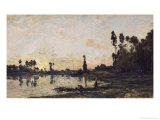 Sunset on the Oise, 1865 Giclee Print by Charles-Francois Daubigny