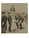 "The Traitor: the Degradation of Alfred Dreyfus (1859-1935), ""Le Petit Journal,"" 13 January 1895 Giclee Print by Henri Meyer"