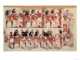Banquet Scene, from Thebes, circa 1400 BC (Wall Painting) Giclee Print
