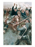 Jackson's Brigade Standing Like a Stone Wall Before the Federal Onslaught at Bull Run Giclee Print by Howard Pyle