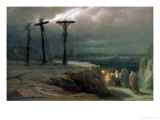 Night at Golgotha, 1869 Giclée-Druck von Vasilij Vereshchagin
