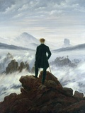 The Wanderer Above the Sea of Fog, 1818 Premium Giclee Print by Caspar David Friedrich