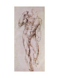 Sketch of David with His Sling, 1503-4 Giclée-Druck von  Michelangelo Buonarroti