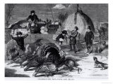 Thanksgiving Day: Ways and Means, from &quot;Harper&#39;s Weekly,&quot; 27th November 1858 Giclee Print by Winslow Homer