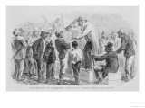 "Convention of Freedmen Discussing Their Rights Georgia, 1865, from ""The South"" by Trowbridge Giclee Print by John Karst"