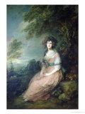 Mrs. Richard Brinsley Sheridan, circa 1785-6 Giclee-trykk av Gainsborough, Thomas