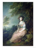 Mrs. Richard Brinsley Sheridan, circa 1785-6 Giclee Print by Thomas Gainsborough