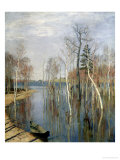 Spring, High Water, 1897 Premium Giclee Print by Isaak Ilyich Levitan