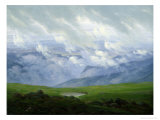 Drifting Clouds Premium Giclee Print by Caspar David Friedrich