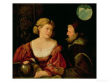 Seduction (Allegory of Youth and Age) circa 1515 Giclee Print by Giovanni de Busi Cariani