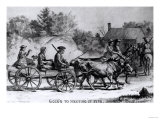 Going to Meeting in 1776, 1876 Giclee Print