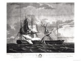 "Representation of the Us Frigate, ""Constitution,"" Isaac Hull (1773-1843) Esq. Commander Giclee Print by Thomas Birch"