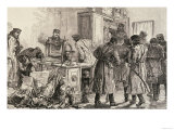 St. Petersburg Police Discovering a Nihilist Printing Press, from &quot;The Illustrated London News&quot; Giclee Print