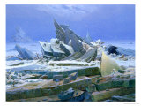 The Polar Sea, 1824 Reproduction procédé giclée par Caspar David Friedrich