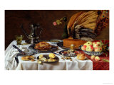 Still Life with a Peacock Pie, 1627 Premium Giclee Print by Pieter Claesz