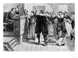 Witchcraft at Salem Village, Fr. the Romance and Tragedy of Pioneer Life by Augustus L. Mason, 1883 Giclee Print