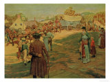 Carrying Powder to Perry at Lake Erie, 1911 Giclee Print by Howard Pyle