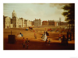 The 2nd Footguards (Coldstream) on Parade at Horse Guards, circa 1750 Giclee Print by John Chapman