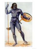 Pictish Man Holding a Shield Reproduction proc&#233;d&#233; gicl&#233;e par John White