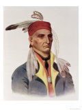 "Shin-Ga-Ba W""Ossin or ""Image Stone,"" a Chippeway Chief Giclee Print by James Otto Lewis"