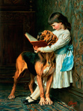 Naughty Boy or Compulsory Education Premium Giclee Print by Briton Rivière