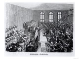 "Quaker Meeting, Philadelphia, from ""Nord Amerika"" by Hesse-Warburg, 1888 Giclee Print"