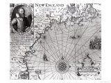 Map of the Coast of New England, Observed and Described by Captain John Smith (1580-1631) 1614 Giclee Print by Simon de Passe