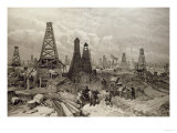 The Petroleum Oil Wells at Baku on the Caspian Sea, 19th June 1886 Premium Giclee Print