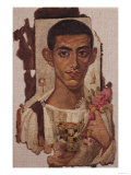 Fayum Portrait of Ammonius, from Antinoe (Encaustic Wax on Linen) Giclee Print