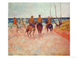 Horseman on the Beach (Hiva Hoa) 1902 Reproduction procédé giclée par Paul Gauguin