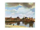View of Delft, circa 1660-61 Premium Giclee Print by Jan Vermeer
