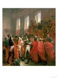 Bonaparte and the Council of Five Hundred at St. Cloud, 10th November 1799, 1840 Giclee Print by Francois Bouchot