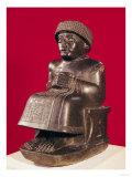 Gudea, Prince of Lagash, Statue to Ningizzada, Neo-Sumerian, from Telloh, Ancient Girsu, c. 2130 BC Giclee Print