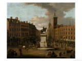 A View of Charing Cross and Northumberland House, 1746 Giclee Print by Joseph Nickolls