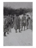 Paul Revere (1735-1818) Bringing News to Sullivan, Engraved by F.H. Wellington Giclee Print by Howard Pyle