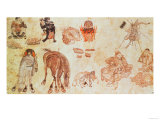 Mongolian Nomadic Camp, 15th Century Giclee Print