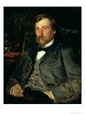 Portrait of the Artist Illarion Mikhailovich Pryanishikov (1840-94), 1883 Giclee Print by Vladimir Egorovic Makovsky