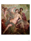 Mars and Venus from the House of Mars and Venus (Casa De Marte E Venere) Pompeii (Wall Painting) Premium Giclee Print