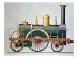 "Stephenson's ""North Star"" Steam Engine, 1837 Giclee Print"