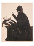 Silhouette of the Rev. L. Littleton Powys (1791-1872), by an Unknown Artist, circa 1850 Giclee Print
