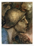 Head of a Worker Giclee Print by Constantin Meunier