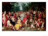 Feast of the Gods Giclee Print by Hendrik van Balen the Elder