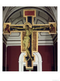 Crucifix (wood) Lmina gicle por Cimabue
