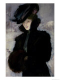 The Fur Coat Giclee Print by Bessie MacNicol