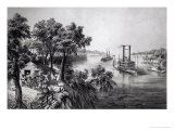 Low Water in the Mississippi, Pub. by Currier and Ives, 1867 Premium Giclee Print by Frances Flora Bond Palmer
