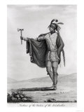 Indian of the Nation of Kaskaskia, from the Atlas to Callots Voyage Dans Lamerique Septentrionale Giclee Print