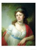 Portrait of E. Temkina, 1798 Giclee Print by Vladimir Lukich Borovikovsky