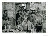 The Mob Attempting to Force a Stamp Officer to Resign, from Harper's Magazine, 1882 Giclee Print by Howard Pyle