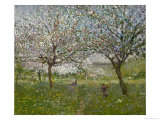 Apple Trees in Flower Giclee Print by Ernest Quost