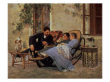 After Dinner, 1888 Premium Giclee Print by Nikolai Dmitrievich Kuznetsov